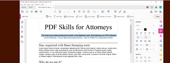 How to Bates Number or Bates Stamp Documents| PDF Skills for Attorneys